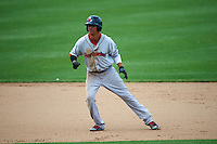 Pawtucket Red Sox pinch hitter Quintin Berry (17) running the bases during a game against the Syracuse Chiefs on July 6, 2015 at NBT Bank Stadium in Syracuse, New York.  Syracuse defeated Pawtucket 3-2.  (Mike Janes/Four Seam Images)