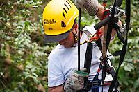 Man in gear ready to go Ziplining on the Big island with Kohala zipline