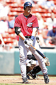 May 21, 2009:  Travis Hafner of the Cleveland Indians rehabs with the Columbus Clippers, International League Triple-A affiliate of the Cleveland Indians, at Coca-Cola Field in Buffalo, NY.  Photo by:  Mike Janes/Four Seam Images