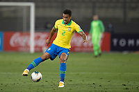 13th October 2020; National Stadium of Peru, Lima, Peru; FIFA World Cup 2022 qualifying; Peru versus Brazil;  Danilo of Brazil cuts inside on the ball