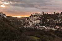 France, Lot (46), Haut-Quercy, Rocamadour, étape du chemin de Saint-Jacques-de-Compostelle //  France, Lot, Haut Quercy, Rocamadour, a stop on el Camino de Santiago