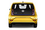 Straight rear view of 2017 Volkswagen E-Up - 5 Door Hatchback Rear View  stock images