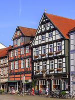 Fachwerkhäuser am Marktplatz Großer Plan, Celle, Niedersachsen, Deutschland, Europa<br /> Half timbered houses at the marketplace Gro?er Plan, Celle, Lower Saxony, Germany, Europe