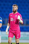 St Johnstone v Falkirk…24.07.18…  McDiarmid Park    Betfred Cup<br />Zander Clark celebrates at full time<br />Picture by Graeme Hart. <br />Copyright Perthshire Picture Agency<br />Tel: 01738 623350  Mobile: 07990 594431