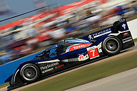 19 March 2011: The #7 Peugeot 908 ofMarc gene, Alexander Wurz, and Anthony Davidson is shown in action during the 12 Hours of Sebring, Sebring Internatonal Raceway, Sebring, FL. (Photo by Brian Cleary/www.bcpix.com)