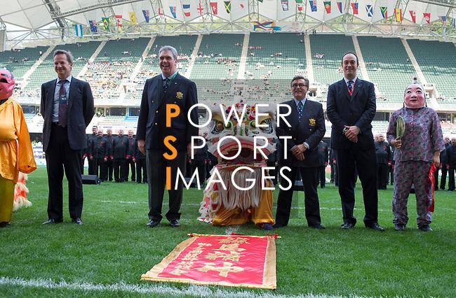 Opening Ceremony on Day 1 of the Cathay Pacific / HSBC Hong Kong Sevens 2013 at Hong Kong Stadium, Hong Kong. Photo by Aitor Alcalde / The Power of Sport Images