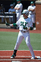 David McCabe (24) of the Charlotte 49ers at bat against the UTSA Roadrunners at Hayes Stadium on April 18, 2021 in Charlotte, North Carolina. (Brian Westerholt/Four Seam Images)