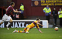31/10/2009  Copyright  Pic : James Stewart.sct_jspa12_motherwell_v_hearts  . :: EGGERT JONSSON GETS A RED CARD AFTER THIS CHALLENGE ON JIM O'BRIEN :: .James Stewart Photography 19 Carronlea Drive, Falkirk. FK2 8DN      Vat Reg No. 607 6932 25.Telephone      : +44 (0)1324 570291 .Mobile              : +44 (0)7721 416997.E-mail  :  jim@jspa.co.uk.If you require further information then contact Jim Stewart on any of the numbers above.........