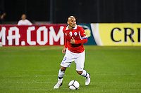 Humberto Suazo (9) of Chile. Ecuador defeated Chile 3-0 during an international friendly at Citi Field in Flushing, NY, on August 15, 2012.