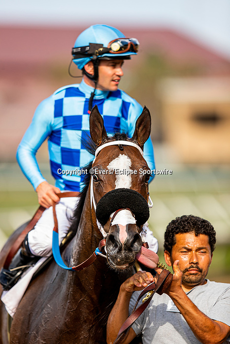 JULY 18, 2021: Neptune Storm with Flavien Prat wins the Wickerr Handicap at Del Mar Fairgrounds in Del Mar, California on July 18, 2021. Evers/Eclipse Sportswire/CSM