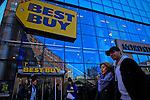 USA-New York, Best Buy Management discusses Q4 results in NYSE