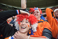 The 2010 FIFA World Cup semi-final between the Netherlands and Uruguay happened at Greenpoint Stadium in Cape Town, South Africa on Tuesday, July 6, 2010.  Netherlands defeated Uruguay 3-2.