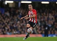 2nd October 2021; Stamford Bridge, Chelsea, London, England; Premier League football Chelsea versus Southampton; Oriol Romeu of Southampton hits a long pass foeward