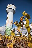 Europe/France/Pays de la Loire/44/Loire-Atlantique/La Haye-Fouassière: Le château d'eau où  sont représentés les vins de la région: Muscadet Sèvre et Maine