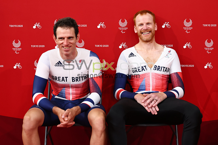 Picture by Alex Whitehead/SWpix.com - Tokyo Paralympics 2020 - 25/08/2021 - Track Cycling - Izu Velodrome, Izu, Japan<br /> - Adam Duggleby and Steve Bate