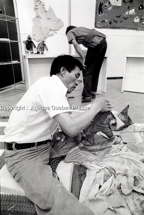 File Photo.<br /> <br /> Henry Napartuk on July 8, 1976, in Montreal, CANADA.<br /> <br /> Henry Napartuk (1932-1985) Lived in Kuujjuaraapik.Napartuk produced several pieces for the Arctic QuÈbec print collection of 1973. <br /> <br /> Photo : Alain Renaud
