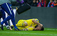 Olivier GIROUD of Chelsea lays injured during the Premier League match between Crystal Palace and Chelsea at Selhurst Park, London, England on 30 December 2018. Photo by Andrew Aleks.