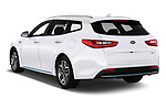 Car pictures of rear three quarter view of a 2019 KIA Optima Sense  5 Door Wagon angular rear