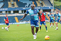 Adebayo Akinfenwa of Wycombe Wanderers during the Open Training Session in front of supporters during the Wycombe Wanderers 2016/17 Team & Individual Squad Photos at Adams Park, High Wycombe, England on 1 August 2016. Photo by Jeremy Nako.