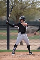 Chicago White Sox infielder Max Dutto (44) during a Minor League Spring Training game against the Chicago White Sox at Camelback Ranch on March 16, 2018 in Glendale, Arizona. (Zachary Lucy/Four Seam Images)