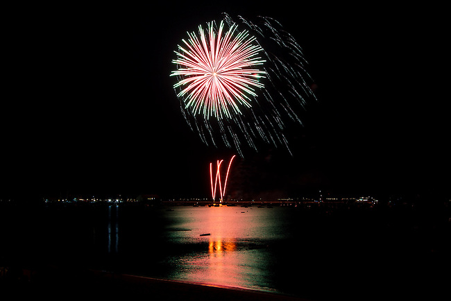 Fireworks over Provincetown Harbor on the 4th of July 2010.