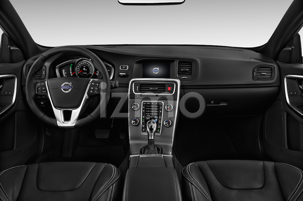 Stock photo of straight dashboard view of 2017 Volvo S60 R-Design 4 Door Sedan Dashboard