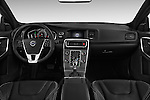 Stock photo of straight dashboard view of 2017 Volvo S60 R-Design 4 Door Sedan Dashboard
