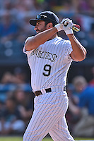 Colorado Rockies  assistant to the general manager Vinny Castilla participates in the South Atlantic League All Star Game Home Run Derby on June 23, 2015 in Asheville, North Carolina. The North Division defeated the South 7-5(Tony Farlow/Four Seam Images)