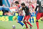 Tiago Cardoso Mendes (L) of Atletico de Madrid fights for the ball with Mikel San Jose Dominguez (R) of Athletic Club during their La Liga match between Atletico de Madrid vs Athletic de Bilbao at the Estadio Vicente Calderon on 21 May 2017 in Madrid, Spain. Photo by Diego Gonzalez Souto / Power Sport Images