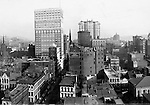 Pittsburgh PA:  View of City from the top of the Empire Building.  View of the city looking up Fifth Avenue.  <br />