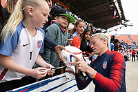 Houston, TX - Sunday April 08, 2018: Fans, Jane Campbell during an International Friendly soccer match between the USWNT and Mexico at BBVA Compass Stadium.