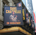 Dave Chappelle On Broadway - Theatre Marquee