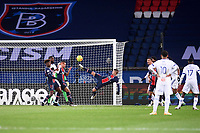 24th December 2020; Paris, France; French League 1 football, Paris St Germain versus Strasbourg; MARCO VERRATTI PSG with an acrobatic clearance
