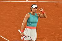 2nd October 2020, Roland Garros, Paris, France; French Open tennis, Roland Garros 2020; Tennis - Roland Garros  2020 - Caroline Garcia - France