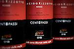 """The Placido Rizzotto redwine from the CentoPassi wine cellar, for sale in the """"Bottega dei sapori e dei saperi della legalità"""", the antimafia """"shop of flavors and knowledge of the legality"""", in Palermo. / Il Placido Rizzotto, uno dei vini della cantina Centopassi in vendita presso la """"Bottega dei sapori e dei saperi della legalità"""" di Palermo."""