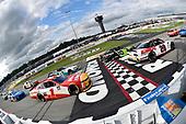 #20: Harrison Burton, Joe Gibbs Racing, Toyota Supra Dex Imaging and #1: Michael Annett, JR Motorsports, Chevrolet Camaro Pilot Flying J