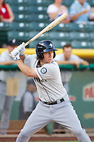 Ty Kelly (14) of the Tacoma Rainiers at bat against the Salt Lake Bees in Pacific Coast League action at Smith's Ballpark on July 8, 2014 in Salt Lake City, Utah.  (Stephen Smith/Four Seam Images)