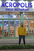 The Greek Acropolis restaurant on the Kingsway, Swansea, Wales, UK. Wednesday 26 August 2020
