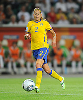 Charlotte Rohlin of team Sweden during the FIFA Women's World Cup at the FIFA Stadium in Wolfsburg, Germany on July 6thd, 2011.