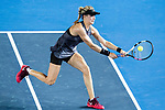 Eugenie Bouchard of Canada in action during the Prudential Hong Kong Tennis Open 2017 match between Caroline Wozniacki of Denmark and Eugenie Bouchard of Canada at Victoria Park on October 10, 2017 in Hong Kong, China. Photo by Marcio Rodrigo Machado / Power Sport Images