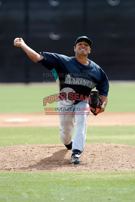 Andres Esquibel  -  Seattle Mariners - 2009 spring training.Photo by:  Bill Mitchell/Four Seam Images