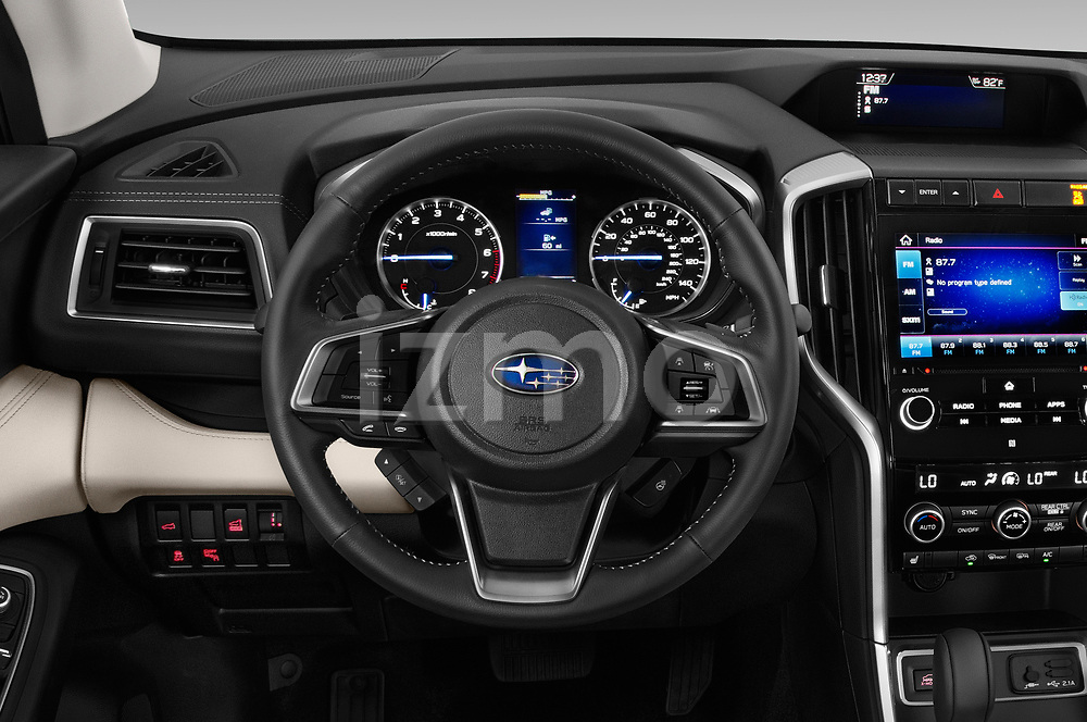 Car pictures of steering wheel view of a 2019 Subaru Ascent Limited 5 Door SUV