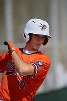 Michael Robertson (12) playing for the Florida Burn 2021 National team during the WWBA World Championship at Terry Park on October 9, 2020 in Fort Myers, Florida.  Michael Robertson, a resident of Venice, Florida who attends Venice Senior High School, is committed to Florida.  (Mike Janes/Four Seam Images)