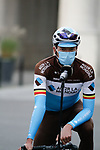 Oliver Naesen (BEL) AG2R La Mondiale at sign on before the start of the 82nd edition of Gent-Wevelgem 2020 running 232km from Ypres to Wevelgem, Belgium. 11th October 2020.  <br /> Picture: Colin Flockton   Cyclefile<br /> <br /> All photos usage must carry mandatory copyright credit (© Cyclefile   Colin Flockton)