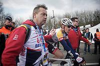 Ronde van Vlaanderen 2013..Jürgen Roelandts (BEL) rolling in after a great performance finishing 3rd in De Ronde
