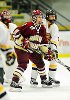 16 October 2010: Boston College Eagles' forward Taylor Wasylk, a Freshman from Port Huron, MI, in action against the University of Vermont Catamounts at Gutterson Fieldhouse in Burlington, Vermont. The Eagles defeated the Lady Cats 4-1 in the second game of their weekend series. Mandatory Credit: Ed Wolfstein Photo