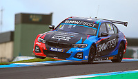 30th August 2020; Knockhill Racing Circuit, Fife, Scotland; Kwik Fit British Touring Car Championship, Knockhill, Race Day; Colin Turkington over the curbs during round 10 of the BTCC