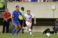 PHILADELPHIA, PENNSYLVANIA - JUNE 30: Jurien Gaari #13, Paul Arriola #7 during the 2019 CONCACAF Gold Cup quarterfinal match between the United States and Curacao at Lincoln Financial Field on June 30, 2019 in Philadelphia, Pennsylvania.