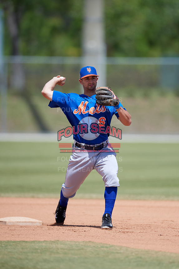 New York Mets Vinny Siena (6) during practice before a minor league Spring Training game against the Miami Marlins on March 26, 2017 at the Roger Dean Stadium Complex in Jupiter, Florida.  (Mike Janes/Four Seam Images)