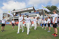 Ravi Bopara leads out the Essex players - Essex CCC vs England - LV Challenge Match at the Essex County Ground, Chelmsford - 30/06/13 - MANDATORY CREDIT: Gavin Ellis/TGSPHOTO - Self billing applies where appropriate - 0845 094 6026 - contact@tgsphoto.co.uk - NO UNPAID USE